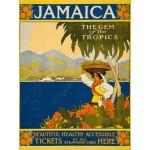 Puzzle  Grafika-00094 Affiche Thoms Cook Travel - Jamaïque, la Gemme des Tropiques, 1910