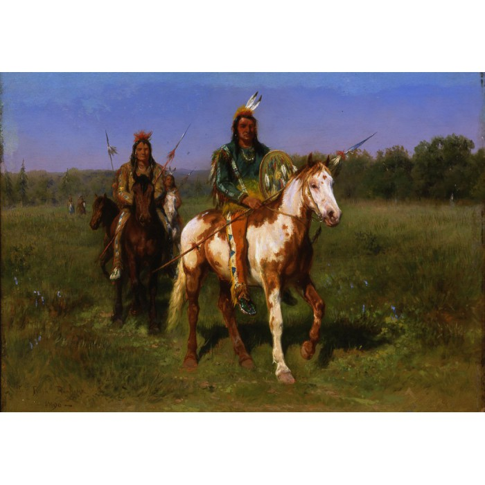 Rosa Bonheur : Indiens à cheval armés de lances, 1890