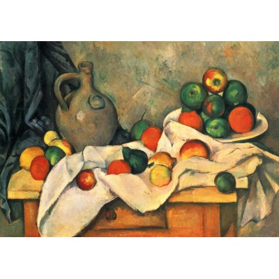 Puzzle Grafika-00100 Paul Cézanne : Rideau, Cruche et un Bol de Fruits, 1893-1894
