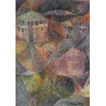 Puzzle  Grafika-00105 Paul Klee : L'Hôtel, 1913