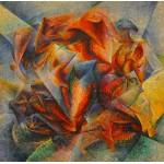 Puzzle  Grafika-00128 Umberto Boccioni : Dinamismo di un ciclista è un dipinto, 1913
