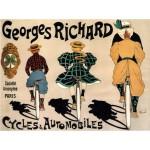 Puzzle  Grafika-00137 Affiche de Fernand Fernel pour la Société des Cycles Georges Richard, 1896
