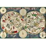 Puzzle  Grafika-00141 Frederik de Wit : Carte Céleste, XVIIe siècle