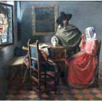 Puzzle  Grafika-00148 Vermeer Johannes : La Jeune Fille au Verre de Vin, 1659-1660