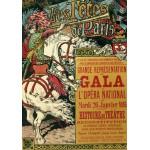 Puzzle  Grafika-00151 Affiche d'Eugène Grasset : Les Fêtes de Paris, 1896
