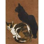 Puzzle  Grafika-00155 Théophile-Alexandre Steinlen : Les Deux Chats, 1923