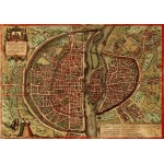 Puzzle  Grafika-00165 Braun : Plan de Paris, 1572