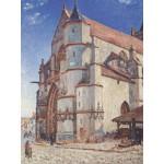 Puzzle  Grafika-00186 Alfred Sisley : L'Église de Moret, 1893