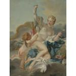 Puzzle  Grafika-00195 François Boucher : Vénus désarmant Cupidon