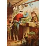 Puzzle  Grafika-00209 Carl Offterdinger : Le Loup et les sept Chevreaux, fin XIXe Siècle