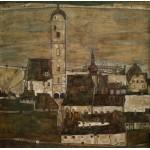 Puzzle  Grafika-00213 Egon Schiele : Stein sur le Danube II, 1913