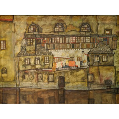 Puzzle Grafika-00215 Egon Schiele : Façade sur la rivière, 1915