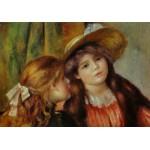 Puzzle  Grafika-00273 Auguste Renoir : Portrait de deux Fillettes, 1880