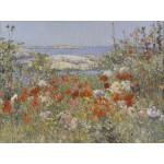 Puzzle  Grafika-00278 Childe Hassam : Celia Thaxter's Garden, Isles of Shoals, Maine, 1890