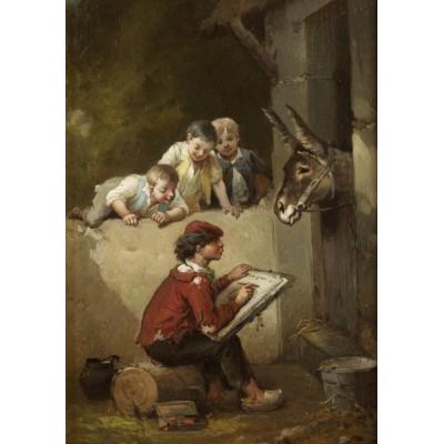 Puzzle Grafika-00350 François-Louis Lanfant de Metz : Le Jeune Peintre, 1892
