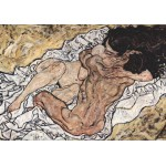 Puzzle  Grafika-00353 Egon Schiele : The Embrace (The Loving), 1917