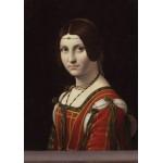 Puzzle  Grafika-00360 Léonard de Vinci : La Belle Ferronnière, 1490-1496