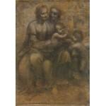 Puzzle  Grafika-00363 Léonard de Vinci : La Vierge, l'Enfant Jésus avec Sainte Anne et Saint Jean Baptiste