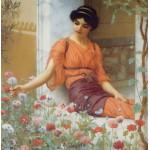 Puzzle  Grafika-00367 John William Godward : Summer Flowers, 1903
