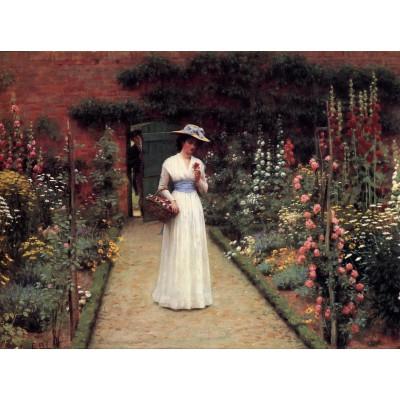 Puzzle Grafika-00370 Edmund Blair Leighton : Lady in a Garden