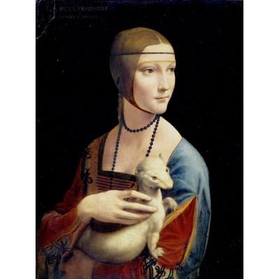 Puzzle Grafika-00376 Léonard de Vinci : La Dame à l'Hermine, 1489-1490