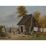 Puzzle  Grafika-00381 William Aiken Walker : Outsite the Cabin