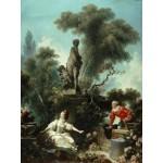 Puzzle  Grafika-00392 Jean-Honoré Fragonard : Les Progrès de l'Amour - Le rendez-vous, 1771-1773