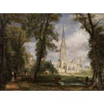 Puzzle  Grafika-00401 John Constable : La Cathédrale de Salisbury, 1825