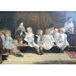 Puzzle  Grafika-00406 Max Liebermann : École Maternelle à Amsterdam, 1880