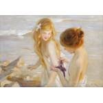 Puzzle  Grafika-00422 Paul Chabas : Deux Jeunes Filles à l'Etoile de Mer