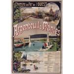 Puzzle  Grafika-00423 Affiche Chemins de Fer : Argenteuil-Mantes, 1893