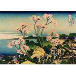 Puzzle  Grafika-00428 Katsushika Hokusai : Shinagawa sur Le Tokaido, 1832