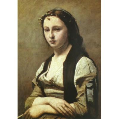 Puzzle Grafika-00431 Jean-Baptiste Camille Corot : La Femme à la Perle, 1869