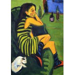 Puzzle  Grafika-00437 Ernst Ludwig Kirchner : Artistin - Marcella, 1910