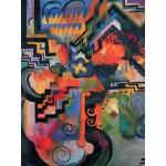 Puzzle  Grafika-00439 August Macke : Composition colorée, 1912