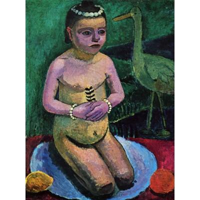 Puzzle Grafika-00441 Paula Modersohn-Becker : Enfant Nu avec une Cigogne, 1906