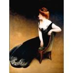 Puzzle  Grafika-00446 John White Alexander : Portrait of Mrs. V, Mrs. Herman Duryea, 1898