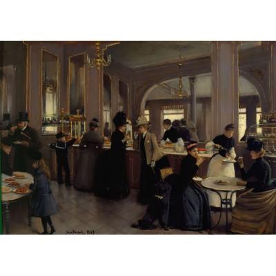 Puzzle Grafika-00455 Jean Béraud : La Pâtisserie Gloppe sur les Champs-Élysées - Paris, 1889