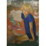 Puzzle  Grafika-00459 Boris Grigoriev : Portrait du Fils de l'Artiste - Kirill, 1920