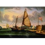 Puzzle  Grafika-00468 Thomas Chambers : New York Harbor with Pilot Boat