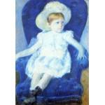 Puzzle  Grafika-00478 Mary Cassatt : Elsie sur un Canapé Bleu, 1880