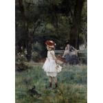 Puzzle  Grafika-00479 Alfred Stevens : La Fillette aux Canards, 1881