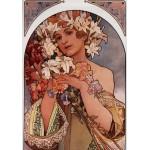 Puzzle  Grafika-00497 Alfons Mucha : La Fleur, 1897