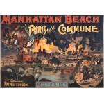 Puzzle  Grafika-00509 Pain of London fireworks, Paris and the Commune, performance poster, Manhattan Beach, New York, 1891