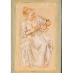 Puzzle  Grafika-00511 Antoine Watteau : Femme Assise, 1716-1717