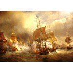 Puzzle  Grafika-00522 Théodore Gudin : Bataille d'Ouessant, 1848