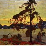 Puzzle  Grafika-00545 Tom Thomson : Le Pin Gris, 1916