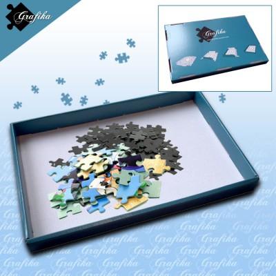 Puzzle Grafika-00568 1 Boîte de Tri Bleue - 24 x 22 x 2.5 cm