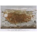 Puzzle  Grafika-00571 Affiche Currier & Ives : La Ville de San Francisco , 1878