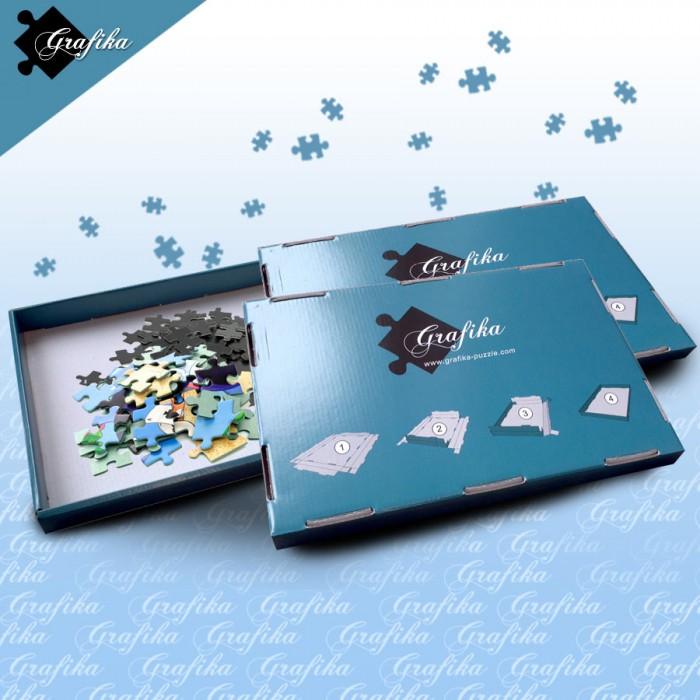 Lot de 3 Boites de Tri Bleues - 24 x 22 x 2.5 cm